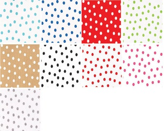 Oilcloth By The Yard Dots By The Roll 6.66 per yard