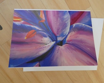 Blue Lily A5 Card/Notelet