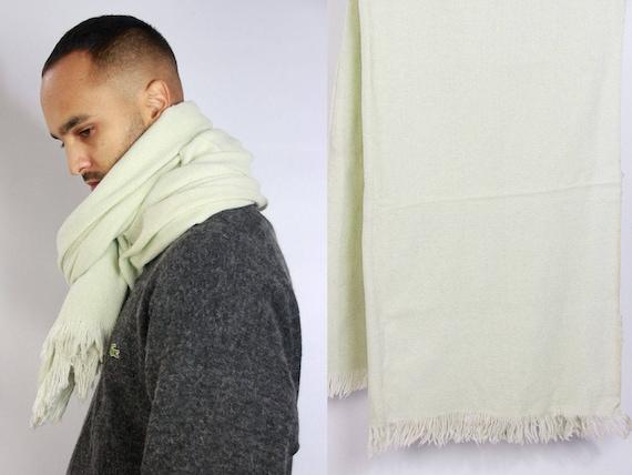 White Wool Scarf Oversize / Oversized Scarf / Large Winter Scarf / Blanket Scarf / Winter Scarf / Hand Knit Scarf / Blanket Scarf  Big Scarf