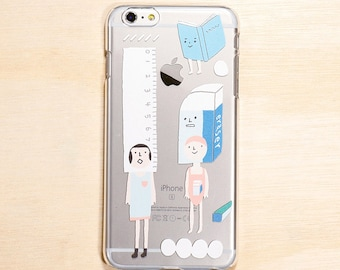 Stationery - Clear Phone case - iPhone 8 Plus, iPhone 8, iPhone 7 Plus, iPhone 7, iPhone 6, iPhone 6 Plus