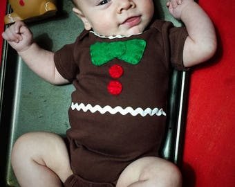 Yummy Gingerbread Baby Onesie Costume
