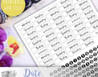 Date Cover-Ups - PRINTABLE Functional Stickers for Erin Condren, Happy Planner, etc.