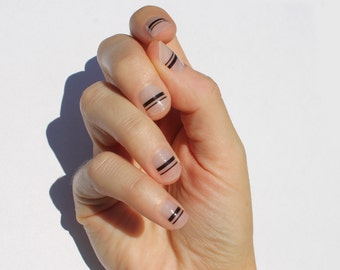 Black Mia Nail Wraps