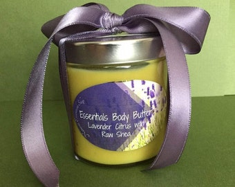 Natural Shea and Essential Oil Body Butter With Lavender and Citrus