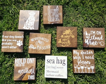 Wood Block Art - Home and Office Decor