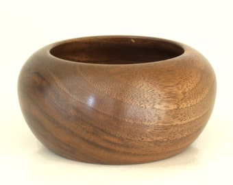Small Wooden Bowl Handcrafted in Walnut