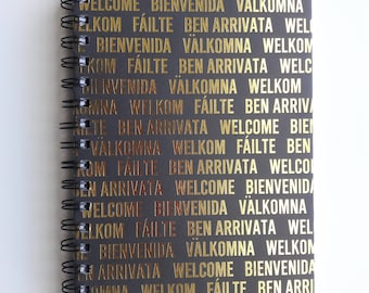 """Notebook, """"Greetings from Around the World"""" Compact Notebook"""