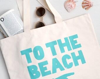 Canvas Shoulder Bag - Large Canvas Beach Bag - Large Bag with Pockets - To the Beach Canvas Bag - Alphabet Bags