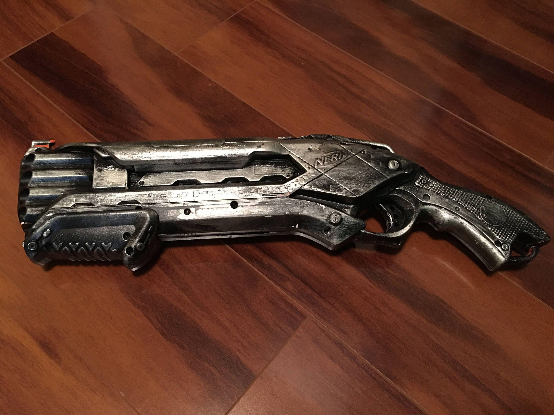 Description This is a Custom Painted Nerf N Strike Elite Rough Cut 2X4 Blaster