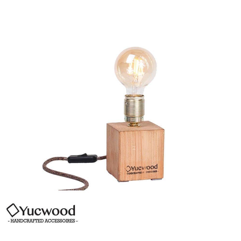Edison Desk Lamp, Night Lamp, Cube One Mini, Industrial Lamp, Handmade