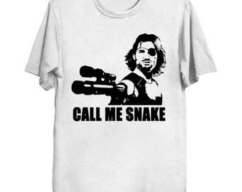Escape from New York: Call Me Snake (black on color)  T-Shirt