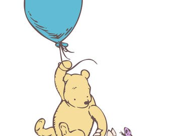 Classic Winnie the Pooh and Piglet - svg, pdf, png files