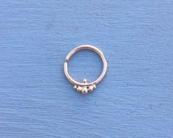 Harmony Septum Ring - Solid 9ct Rose Gold - Piercing Septum Daith Helix Rook Nostril