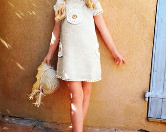 Tutorial beige dress for girl