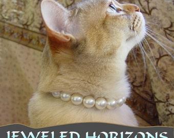 Collier pour chat de perles avec fermoir magnétique de sécurité