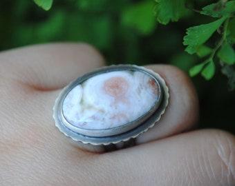 SIZE 6.25, Oval Ocean Jasper Ring, Ocean Jasper Jewelry