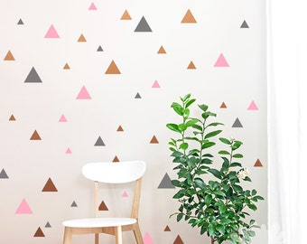 Triangle Wall Decal / Triangle Sticker / 60 Triangle sticker / Kids wall decoration / Home Decor / Modern Wall Decal / custom / gift