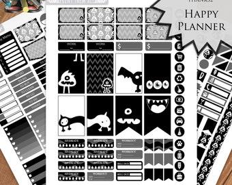 Halloween, Planner Stickers Printable, HAPPY PLANNER STICKERS,  Monthly/Weekly Kit, Printable Sampler, Happy planner Kit, Instant download