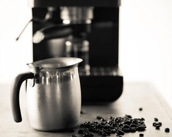 Food Photography - Kitchen Art - Coffee - B&W Coffee Photos - Fine Art Photography Prints - Kitchen/Dining Room Decor