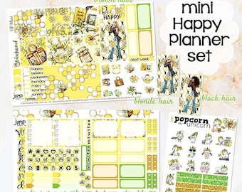 NewRELEASE Honey Bee set kit weekly stickers - for MINI Happy Planner - sunflowers summer floral flowers girls fashion
