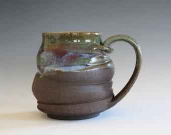 Pottery Coffee Mug, 13 oz, coffee mug pottery, handmade cup, hand thrown mug, stoneware mug, wheel thrown pottery mug, ceramics and pottery