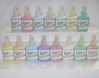 "Ginger's Cameo K005 Pastel Kit Acrylic Ballpoint Fabric Paints 15 Paints Easy ""Just Color With Paints"" Free Shipping!  Instructions Included"