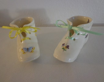 Adorable Vintage Porcelain Baby Shoes - 2