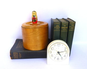 Vintage MATRYOSHKA Doll WOOD CONTAINER