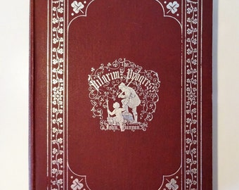 c. 1880's THE PILGRIM'S PROGRESS by John Bunyan, Illustrated, Boston, Very Good