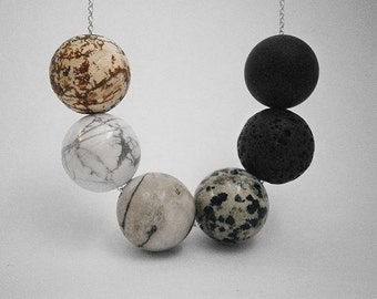PLANETS necklace - sterling silver chain