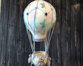 Textile Air balloon Crib Mobile