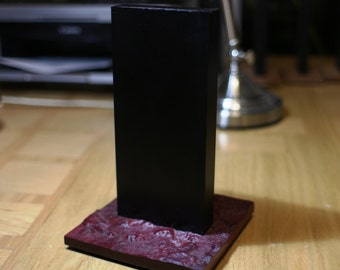 Material Certified MT-185 Perfect Monolith - Large - 3D Carved PurpleHeart Base