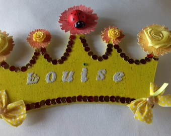 Pretty Princess louise personalized Ladybug wreath
