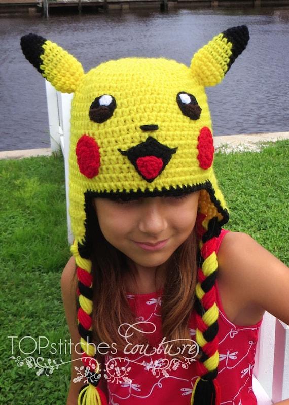 Pikachu Crochet Hat PDF Pattern Pokemon Go Pattern Pokemon