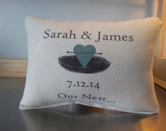 2nd anniversary gift cotton pillow newlywed gift ideas custom wedding gift throw pillow couples gift wedding date cushion name date pillows
