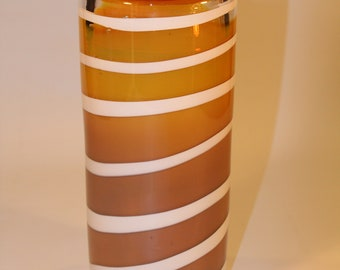Gold Hand Blown Glass Vase
