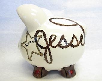 Personalized Piggy Bank Deputy/Sheriff