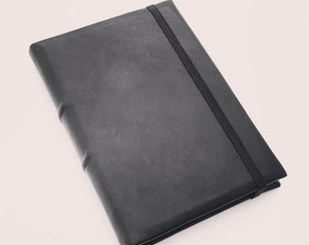 READY TO SHIP Black Leather A5 Journal w/ Tomoe River