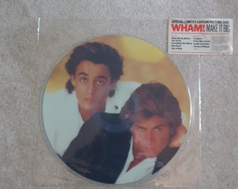 Wham (VINYL Picture Disc) - Make It Big lp (Limited Edition Picture Disc/MINT never played/Careless Whisper/Wake Me Up Before You Go-Go)