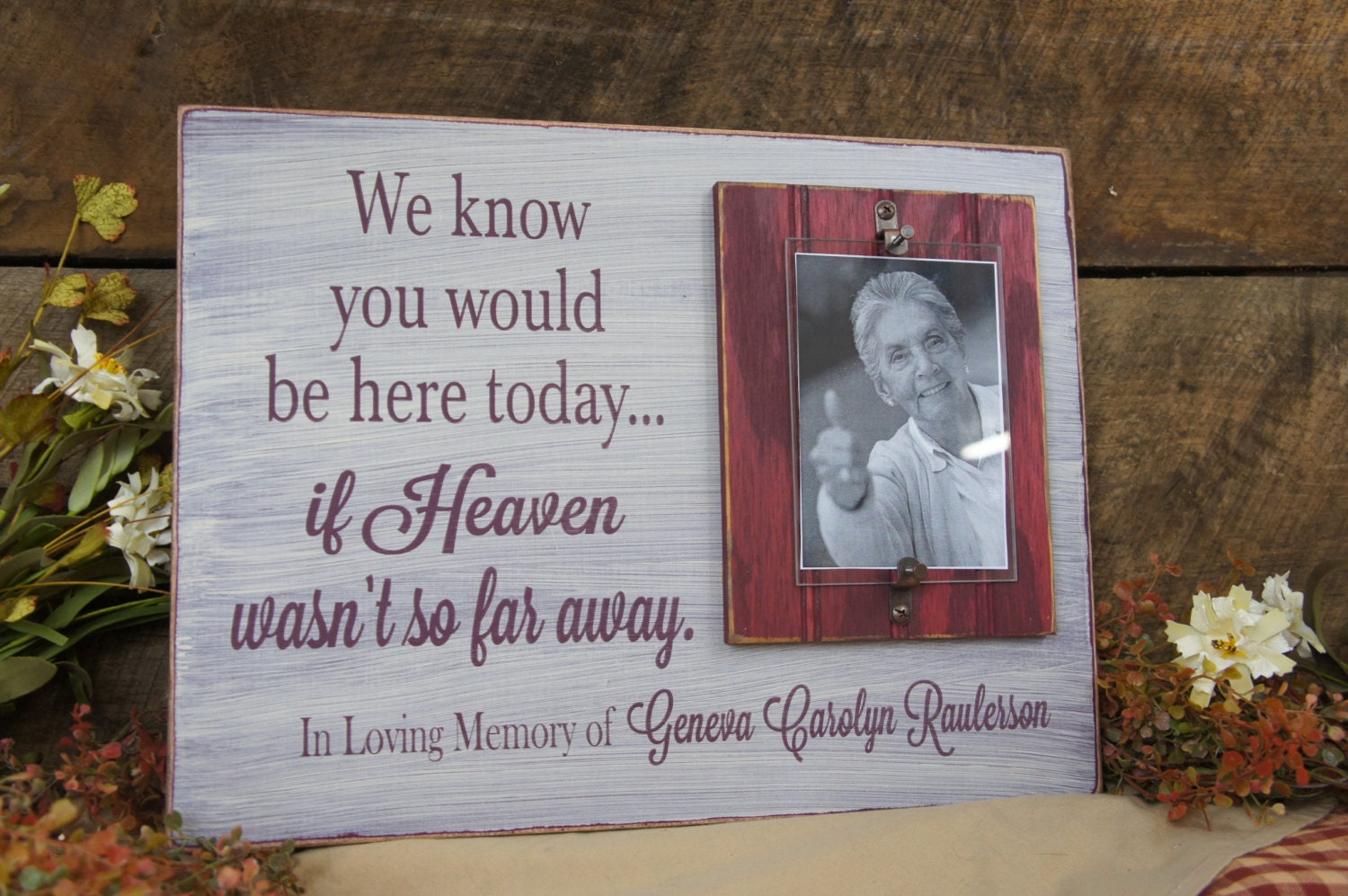 Memorial Picture frame We Know You Would Be Here Today.. If Heaven ...