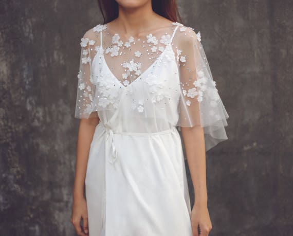 Lace Wedding Dress Cover Up Embellished Bridal Dress Cover