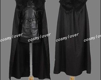 Game of Thrones Jon Snow Custom Made Cosplay Costume