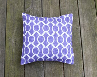 Sydney Thistle Pillow Cover- Purple and White Decorative Couch Pillow 16x16- Ready to Ship