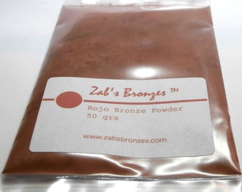 100 gr Zab's Rojo Bronze™ metal clay powder, coppery bronze
