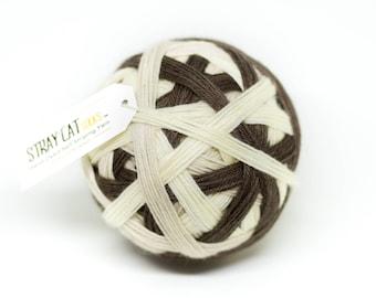 COOKIES & CREAM - vibrant hand dyed self striping sock yarn