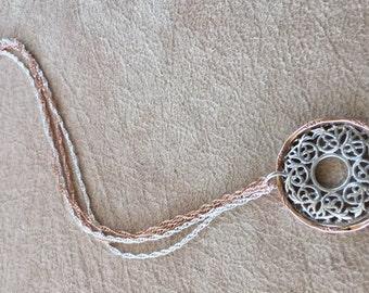 Filigree disk necklace
