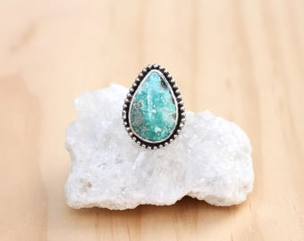 Turquoise Statment Ring // Sterling Silver // Size 7.75 // Campitos Turquoise
