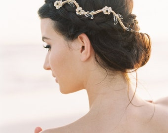 Black & Gold Bridal Headpiece. Bridal Boho Hair Piece {Genevieve}