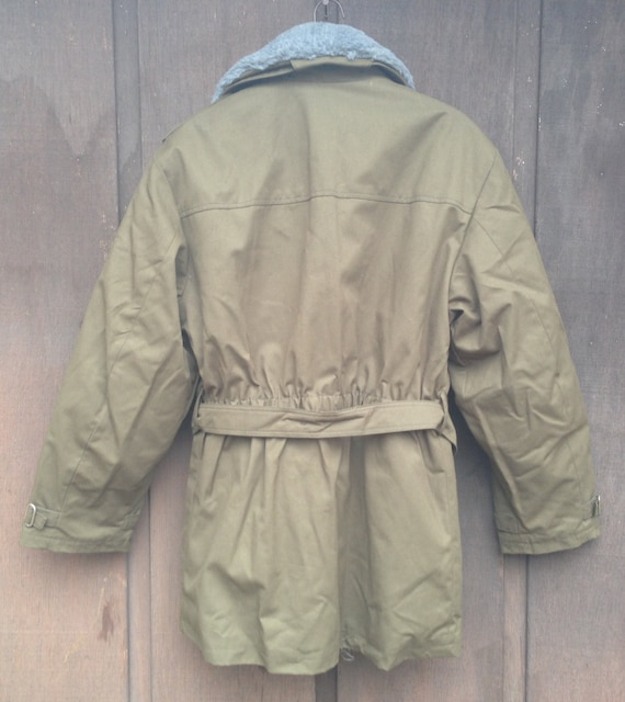 Vintage 1980's-90's Deadstock Czech Military Parka / Plush Pile Lined / Olive Drab Green / Unisex / Available in Sizes Medium, Med-Lg, Large