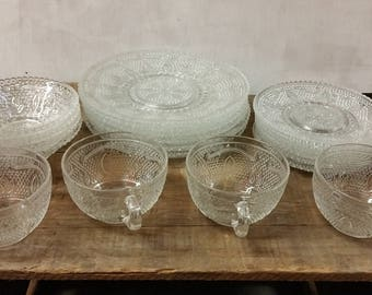 Vintage Glass Dessert Set